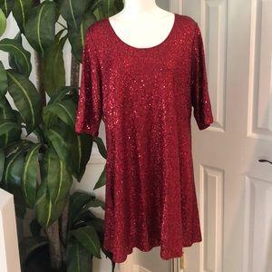 Eileen Fischer Sequin Silk Dress